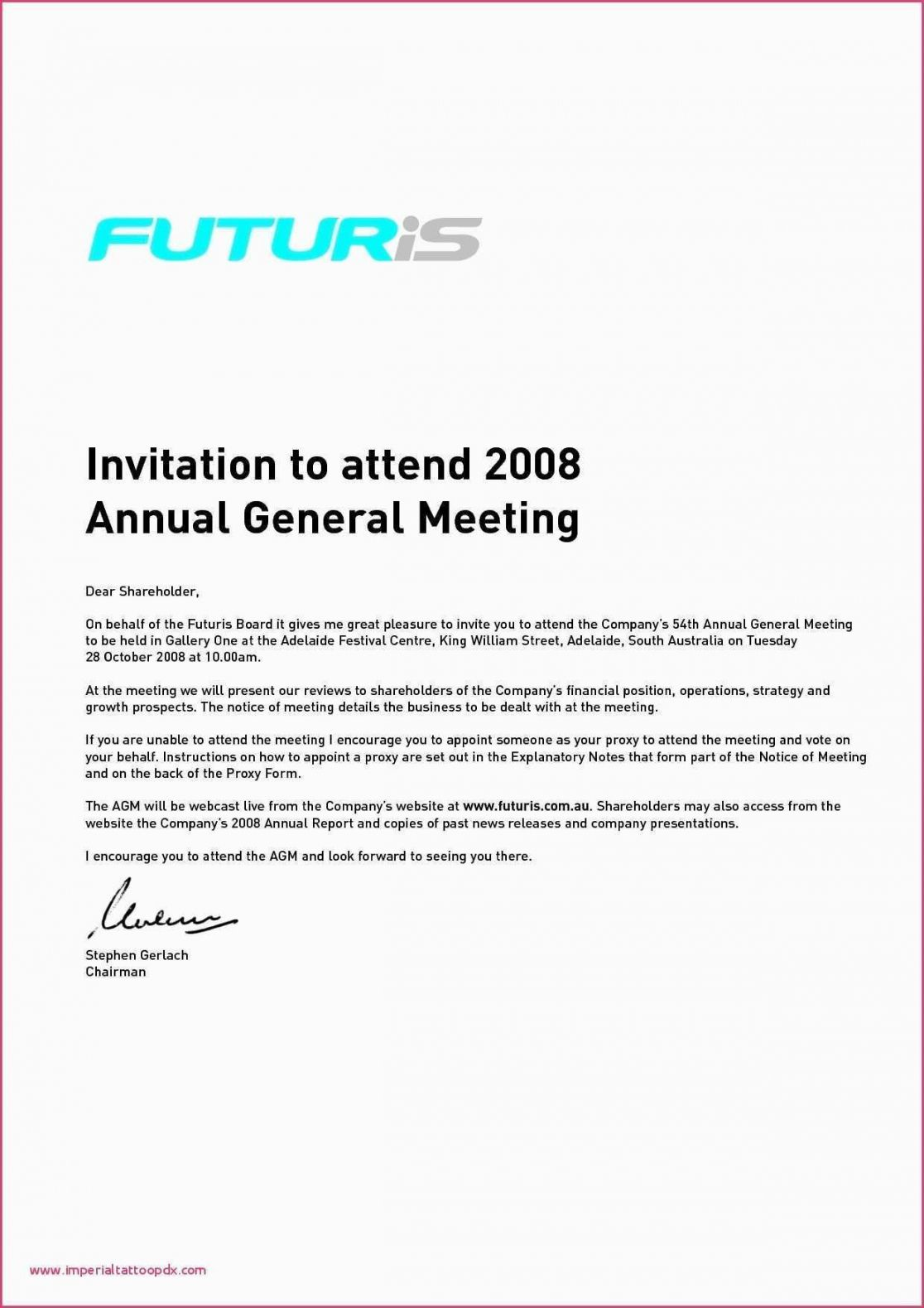 Editable Sample Invitation Letter Stakeholders Meeting New within