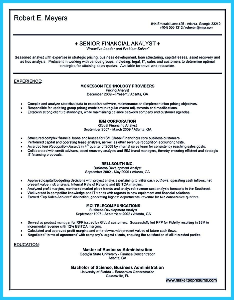 Resume Company Awesome Create Your Astonishing Business Analyst Resume And Gain The .