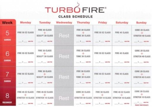 33 Awesome turbo fire schedule images | Fitness/Exercise ...
