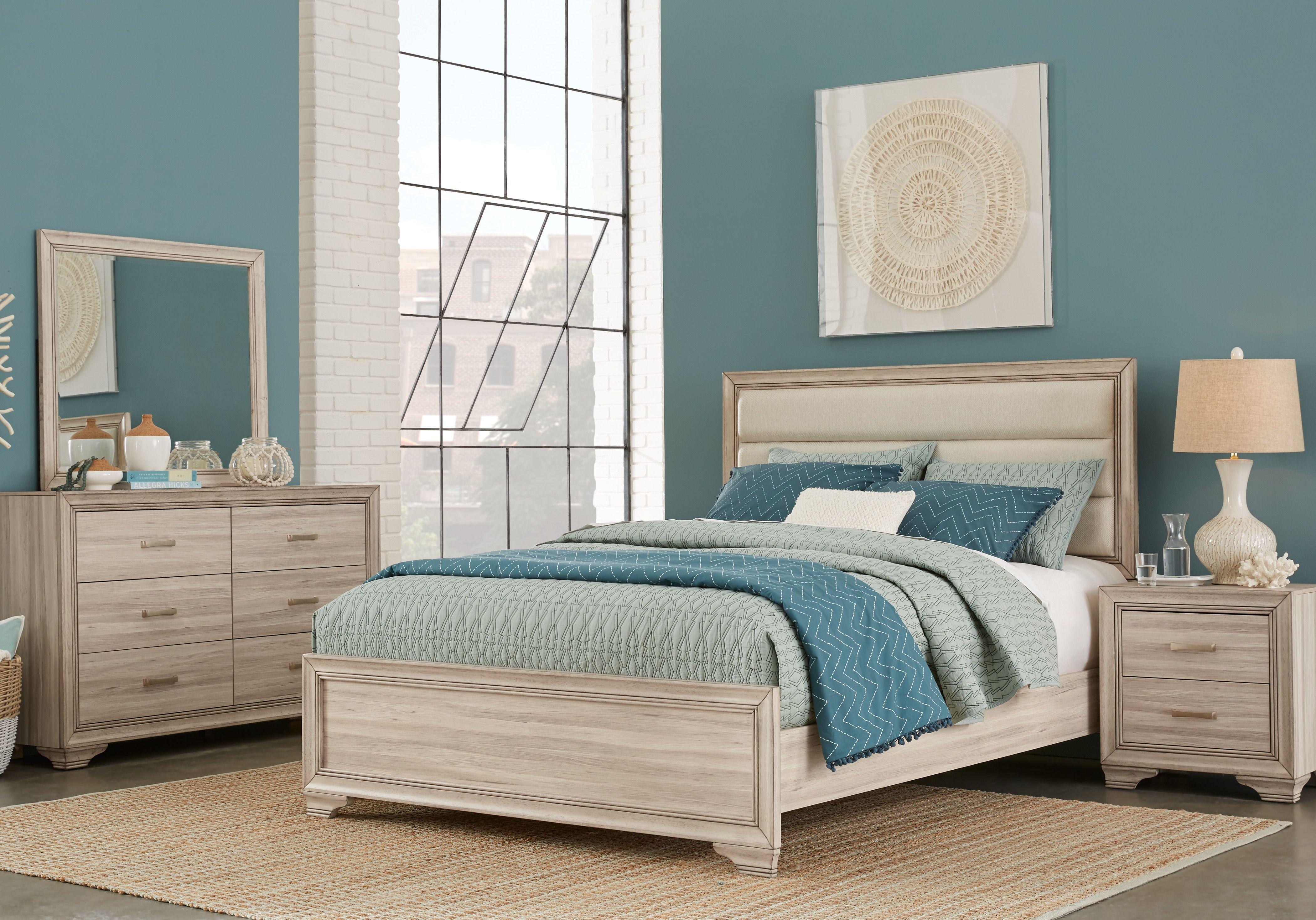 Marlow Natural 7 Pc Queen Panel Bedroom ...