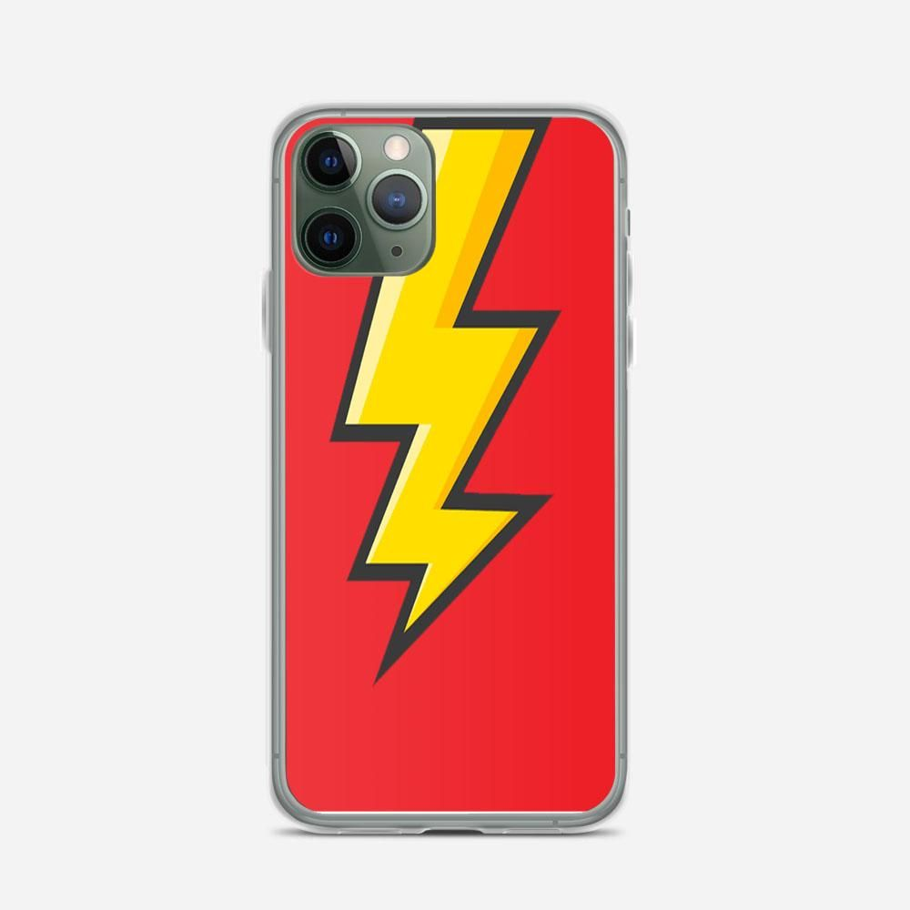 Yellow Cartoon Bolt iPhone 11 Pro Max Case