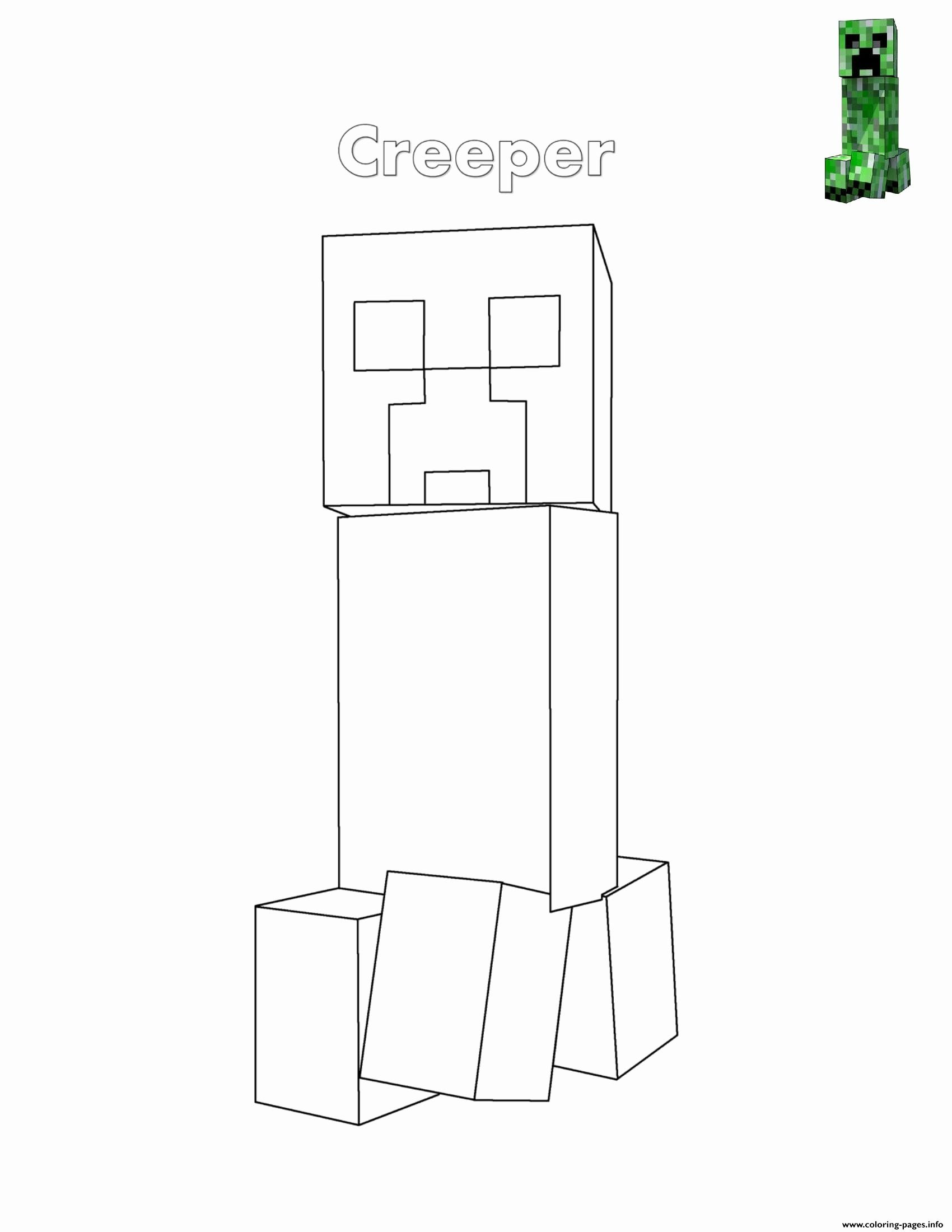 Minecraft Creeper Coloring Page Favourite Creeper Minecraftring Pages Creeper Printable Minecraft Coloring Pages Drawing Books For Kids Coloring Pages