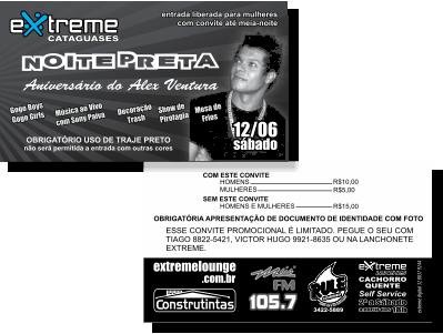 Noite Preta - Extreme (Convite)