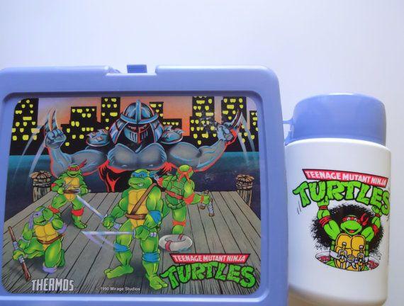 Vintage Teenage Mutant Ninja Turtles Lunchbox By Wylieowlvintage