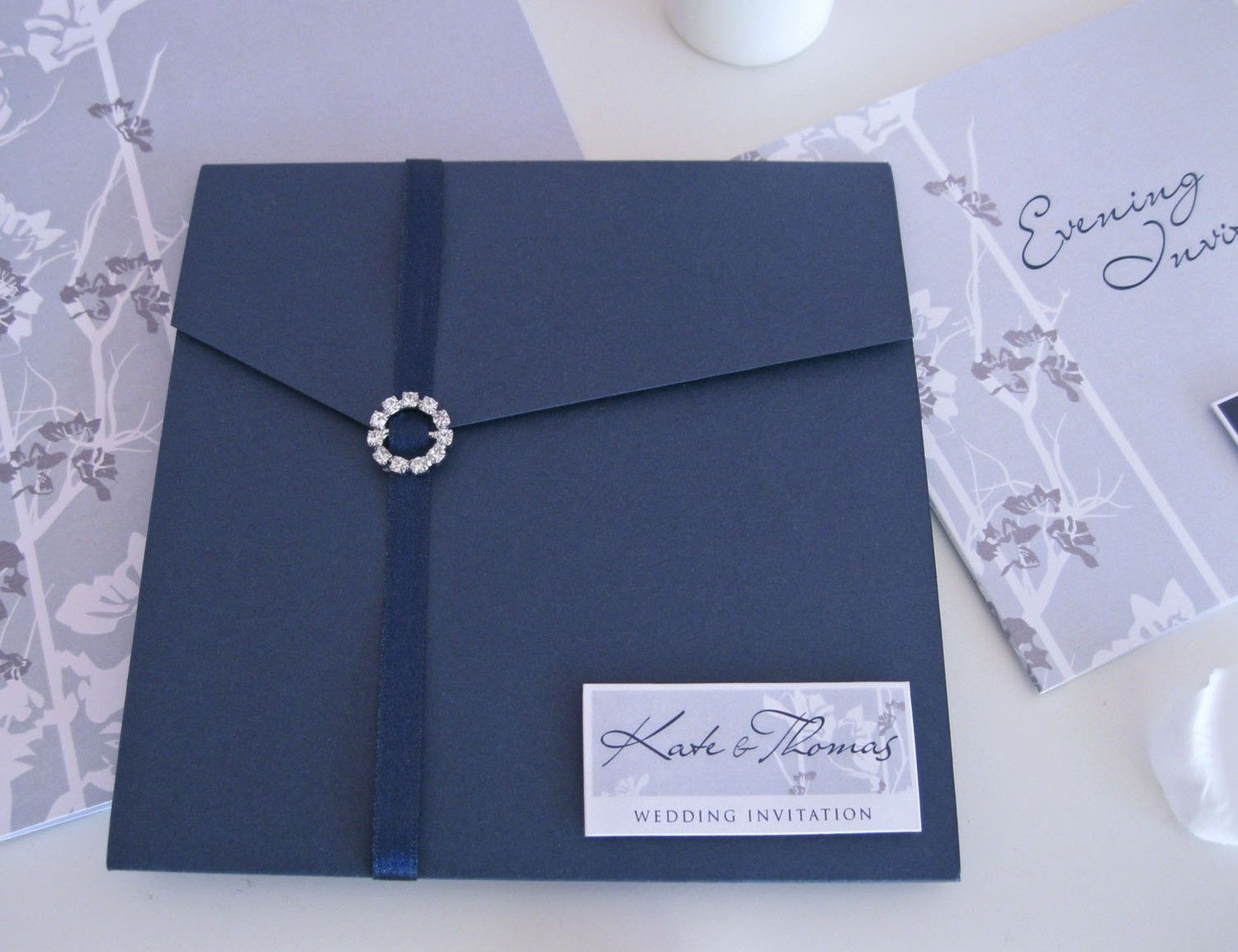 Wedding Invitations Royal Blue And Silver: Royal Blue Silver Black Wedding Invitations