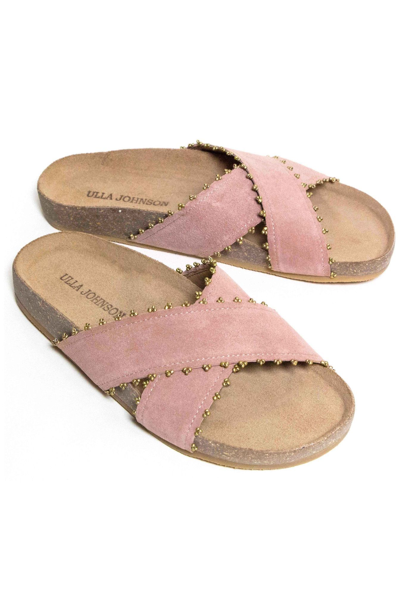 Pink Suede Pretty  Artisan Slippers