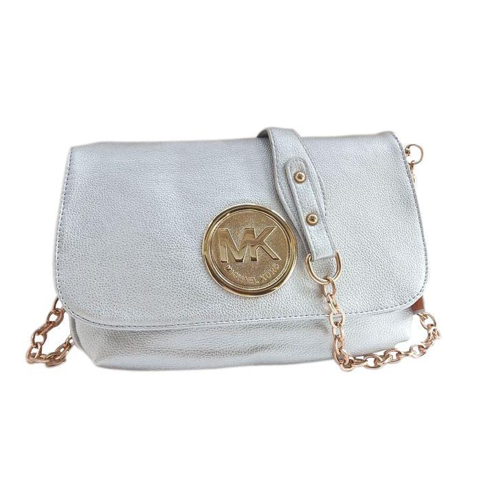 a364a44b72fa Michael Kors Fulton Messenger Medium Silver Crossbody Bags Outlet ...
