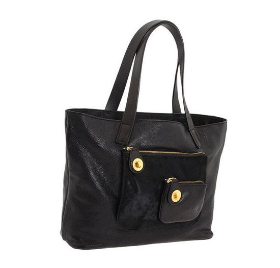Classic Marc Jacobs black travel tote = wear-with-anything, take-anywhere must have.