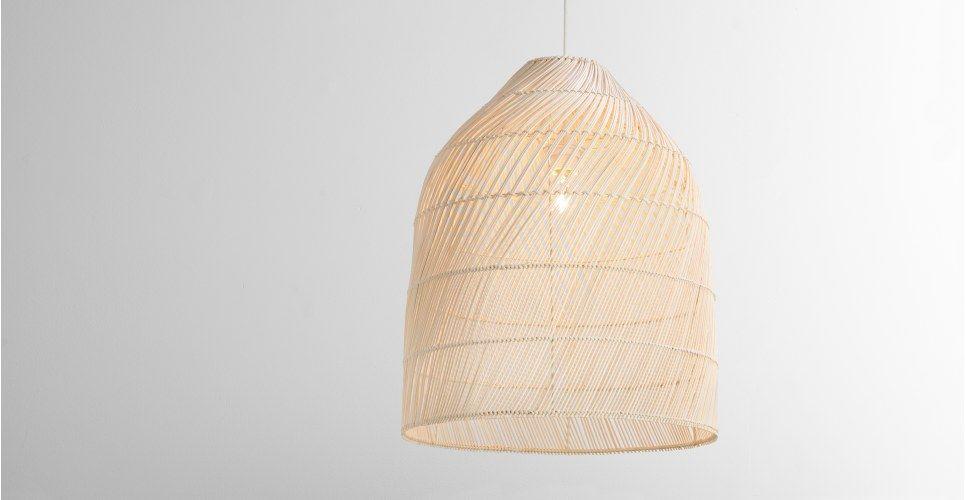 Lampenschirm Schlafzimmer ~ Java hoher lampenschirm rattan