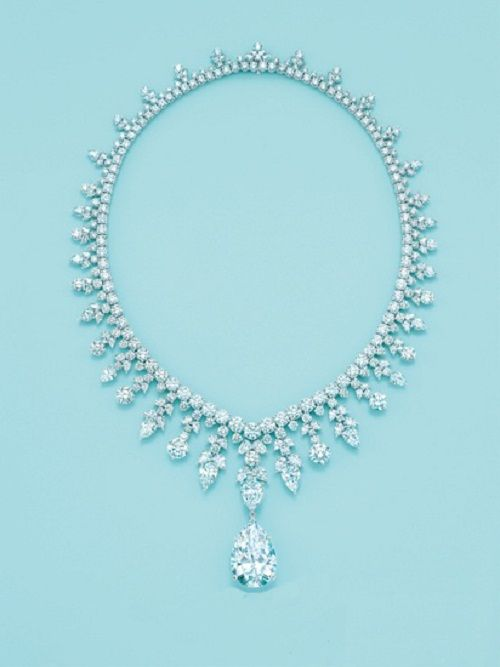 7dc7f7458afc Tiffany and Co. Majestic Diamond Necklace . One of Top 10 Most Epensive  Necklaces the highlight is a 41ct. Pear shaped Diamond Pendant and sells  for  2.5 ...