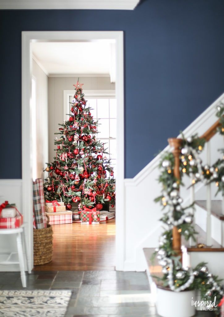 Christmas at Bayberry House – Holiday Home Tour with color Christmas Decoration …
