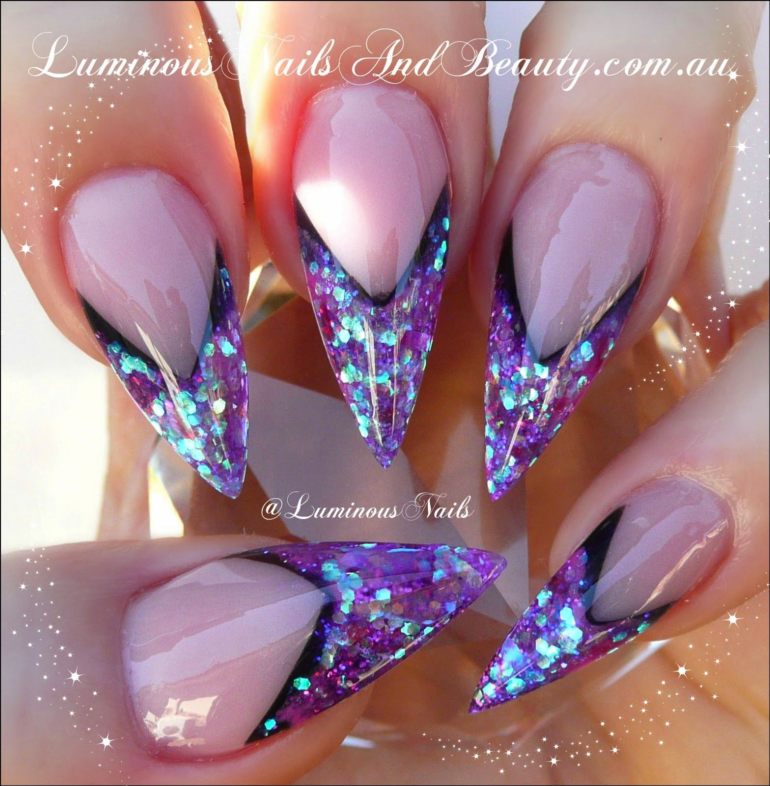 Luminous Nails: Stiletto Edge Nails! | Cool nail art | Pinterest ...