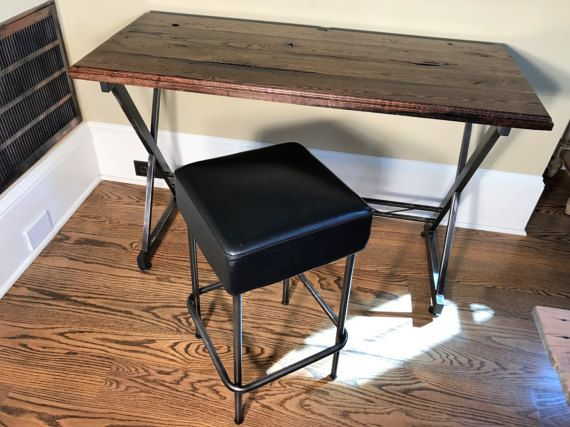 Groovy Writing Desk And Stool Reclaimed Barnwood By Gmtry Best Dining Table And Chair Ideas Images Gmtryco
