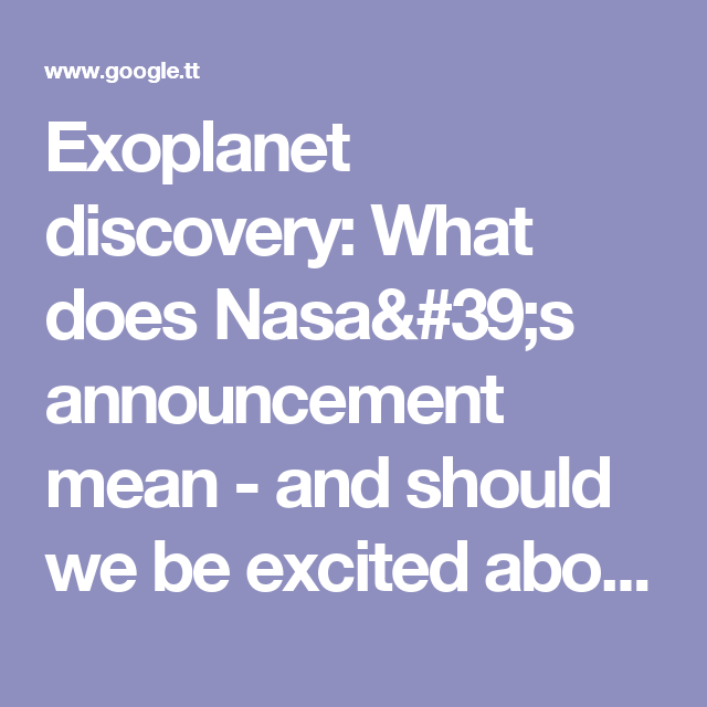 Exoplanet discovery: What does Nasa's announcement mean - and should we be excited about TRAPPIST-1?