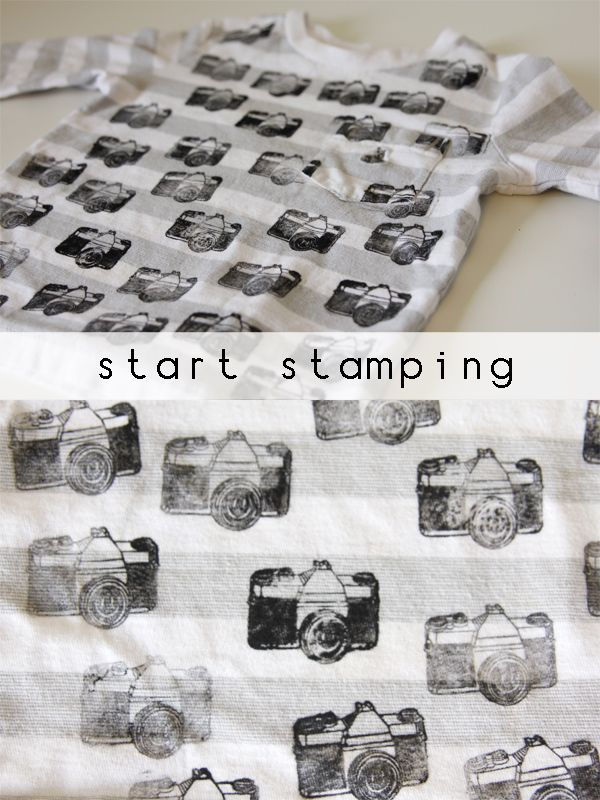 Fabric Stamping Ink Rubber Stamp Of Your Choice Cool New Shirt Its Also Recommended For Hiding Stains