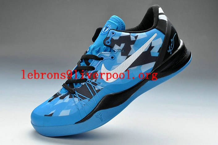 low priced 09622 30f9d Nike Zoom Kobe VIII Elite System Blue White and Black Colorways Men  Basketball Shoes