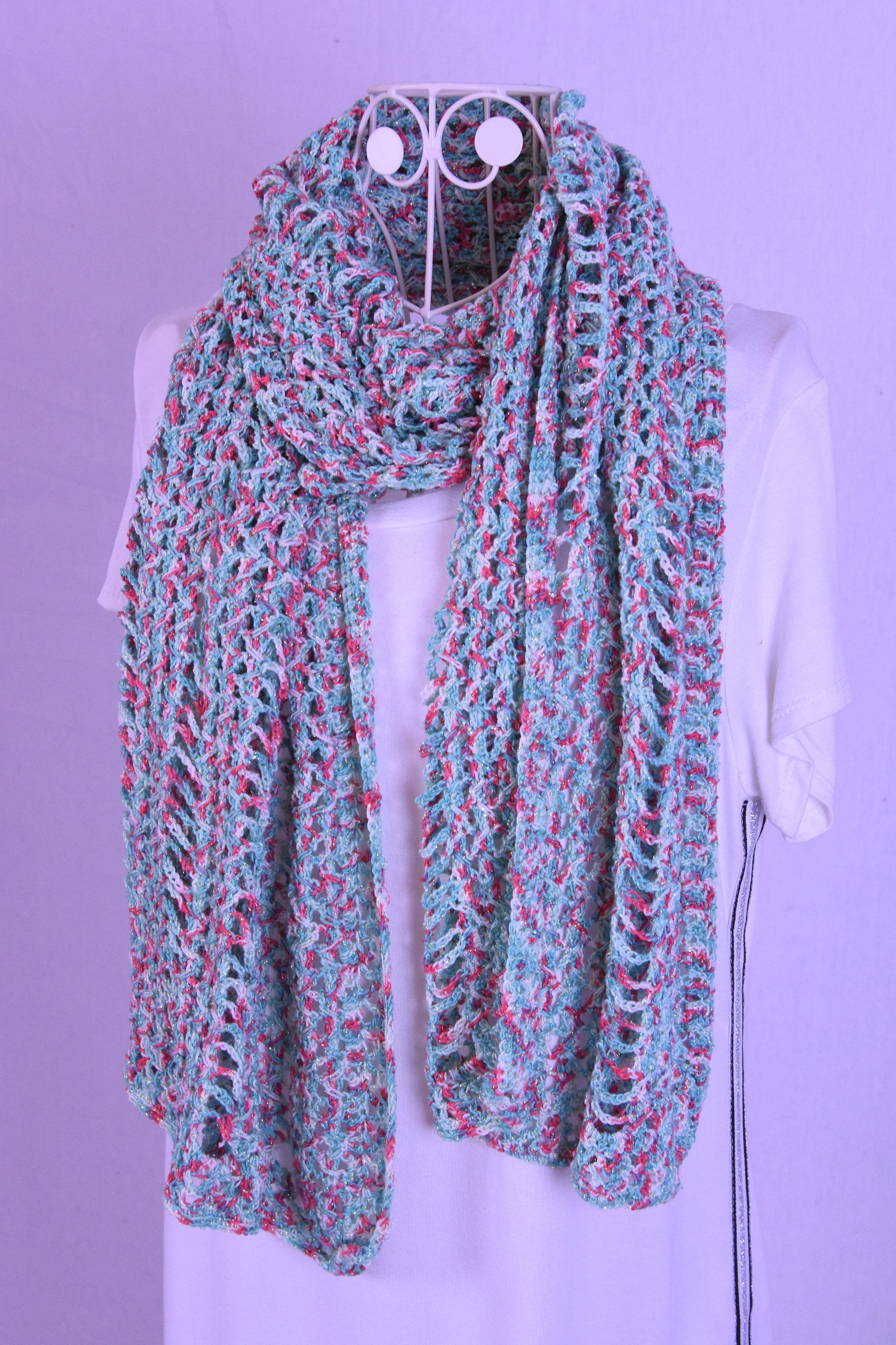 Crochet Scarf In Fresh Colours Haken Pinterest Gehaakte Sjaal