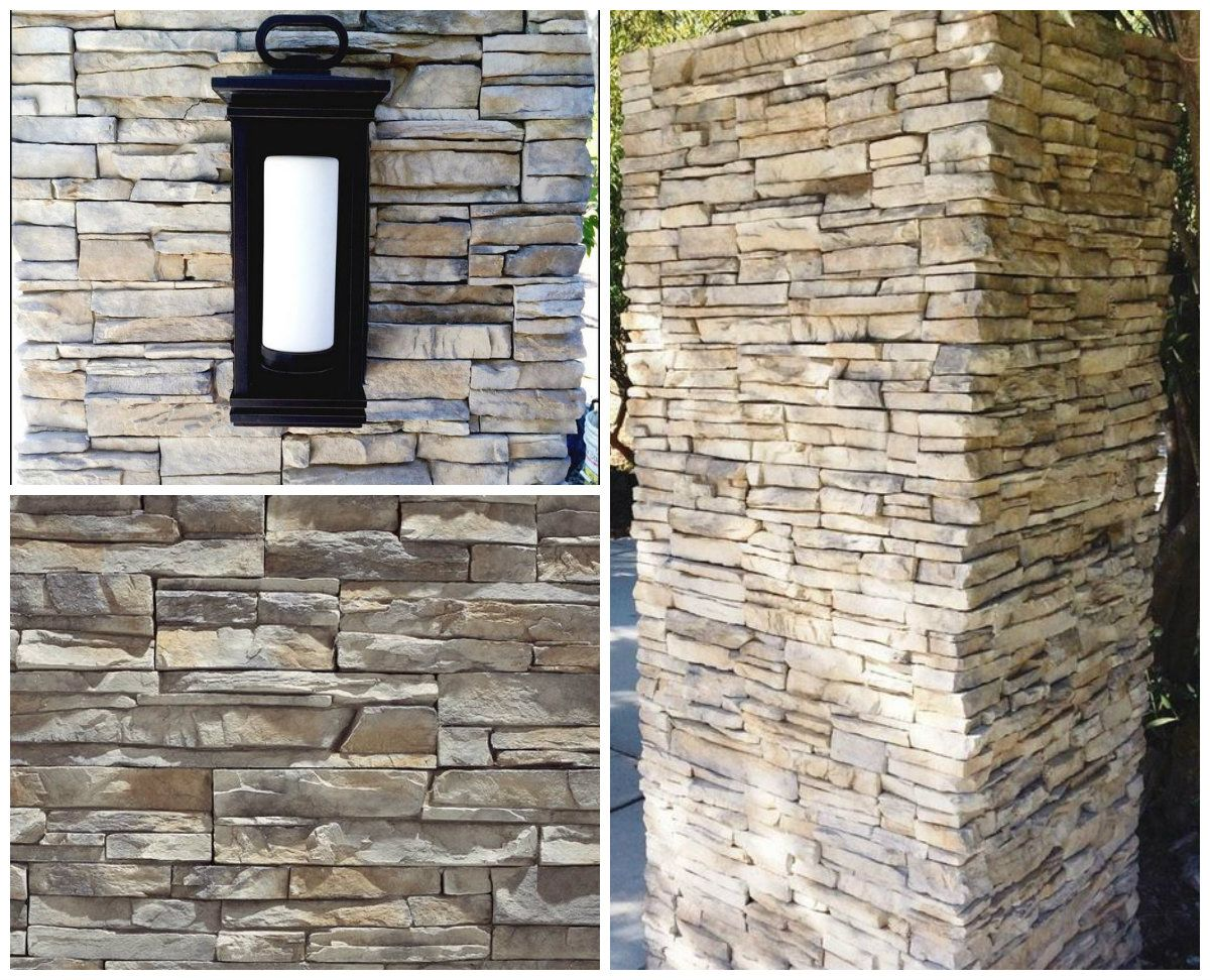 Eldorado Stone Stacked Stoneveneer In Nantucket Covers The Mailbox And Lamppost Pillars Of The Author Of Www Sim Eldorado Stone Stone Veneer Fireplace Remodel