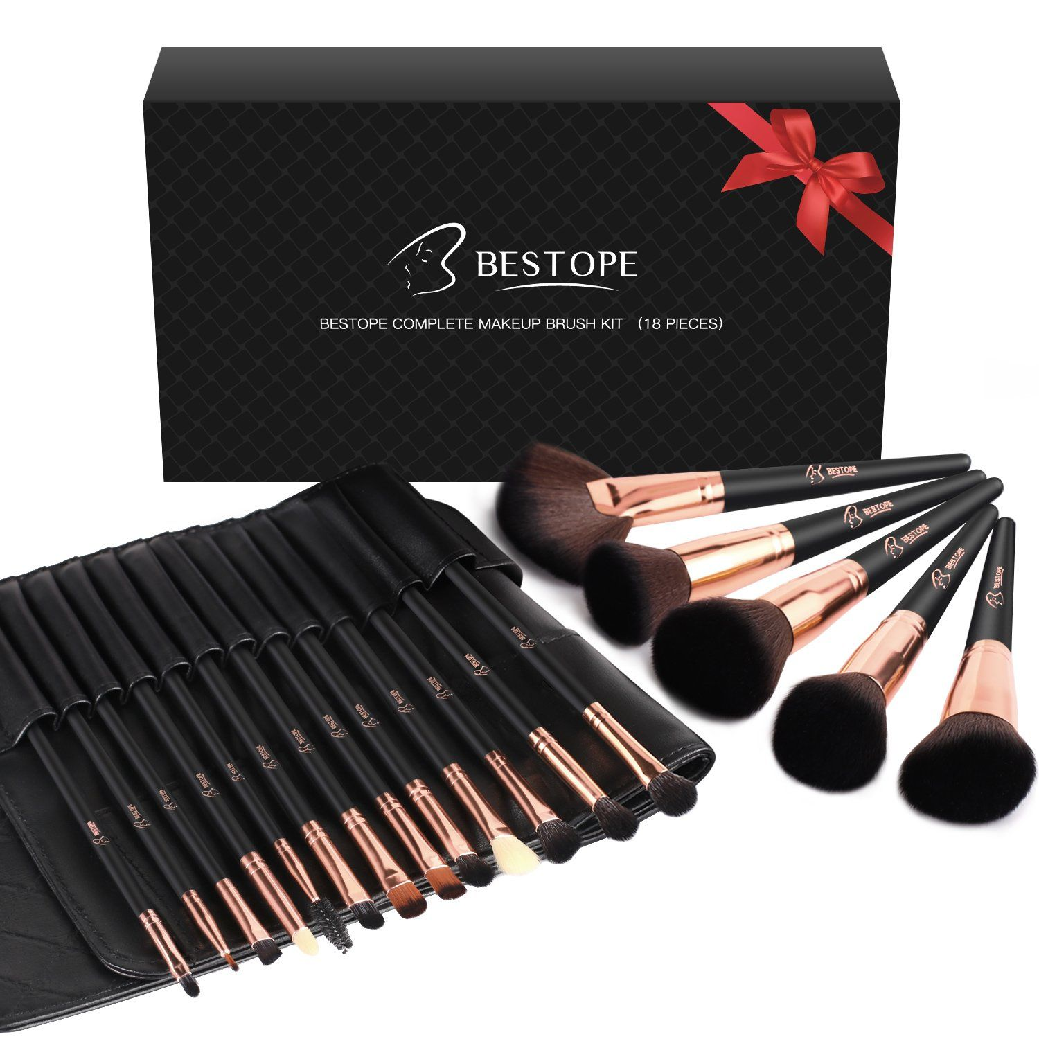BESTOPE 18pcs Makeup Brush Set Bestope makeup brushes