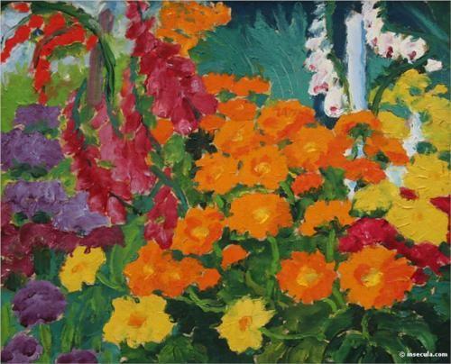 Flower garden (marigolds) (1919) - Emil Nolde