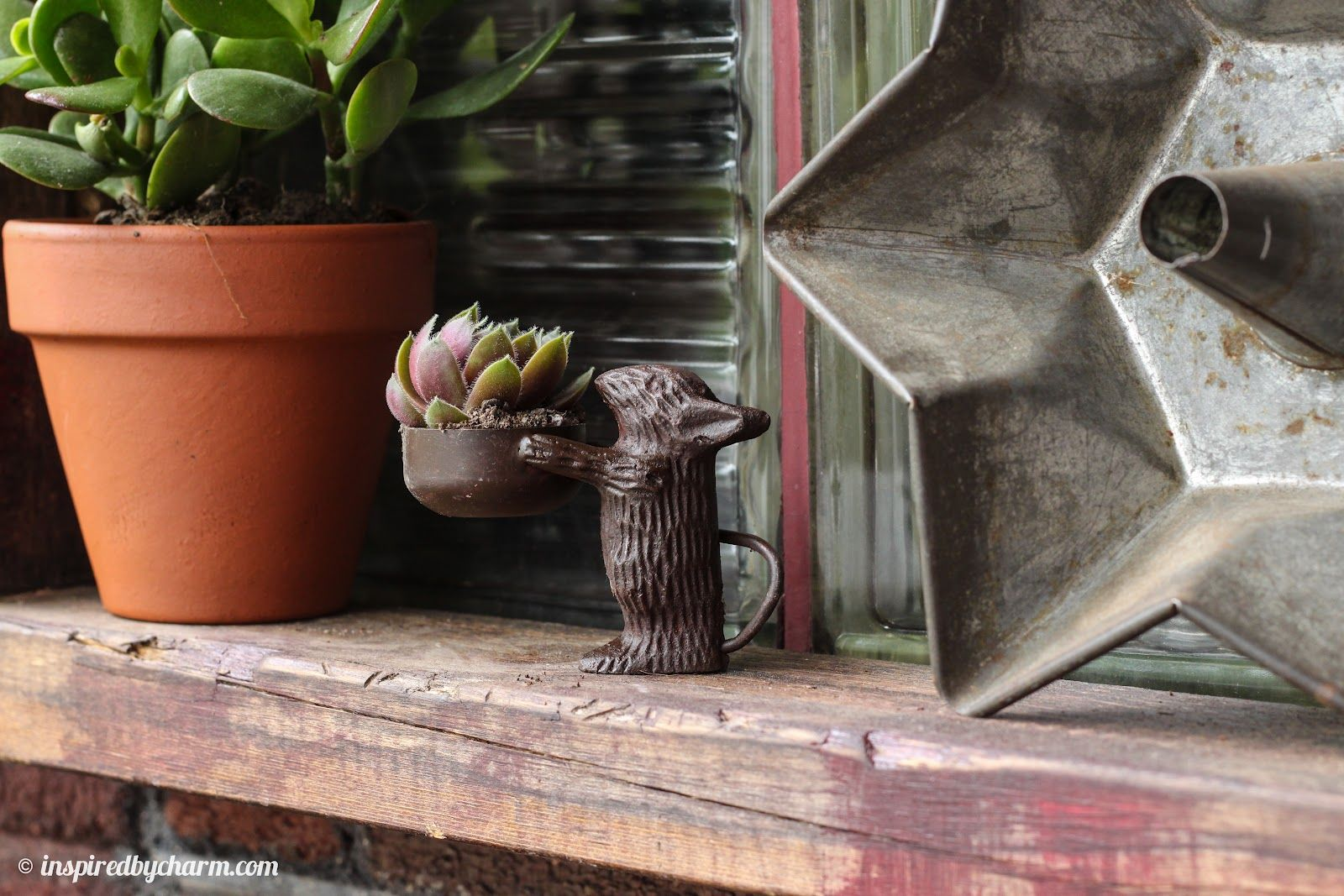 mouse tealight/succulent holder