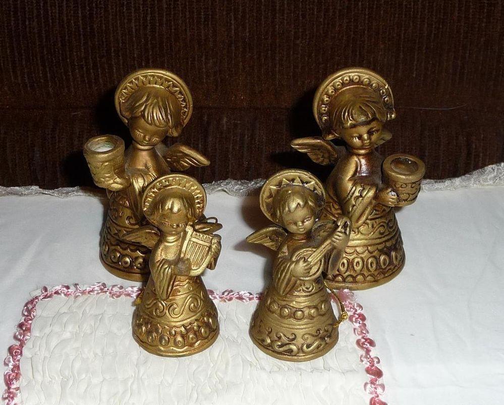 Sold = Vintage Napcoware Porcelain Angel Candle Holders