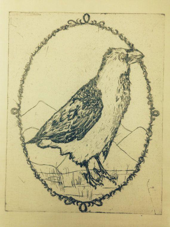 $5.00  raven patch struggle bird punk patch  limited run by gingimlet