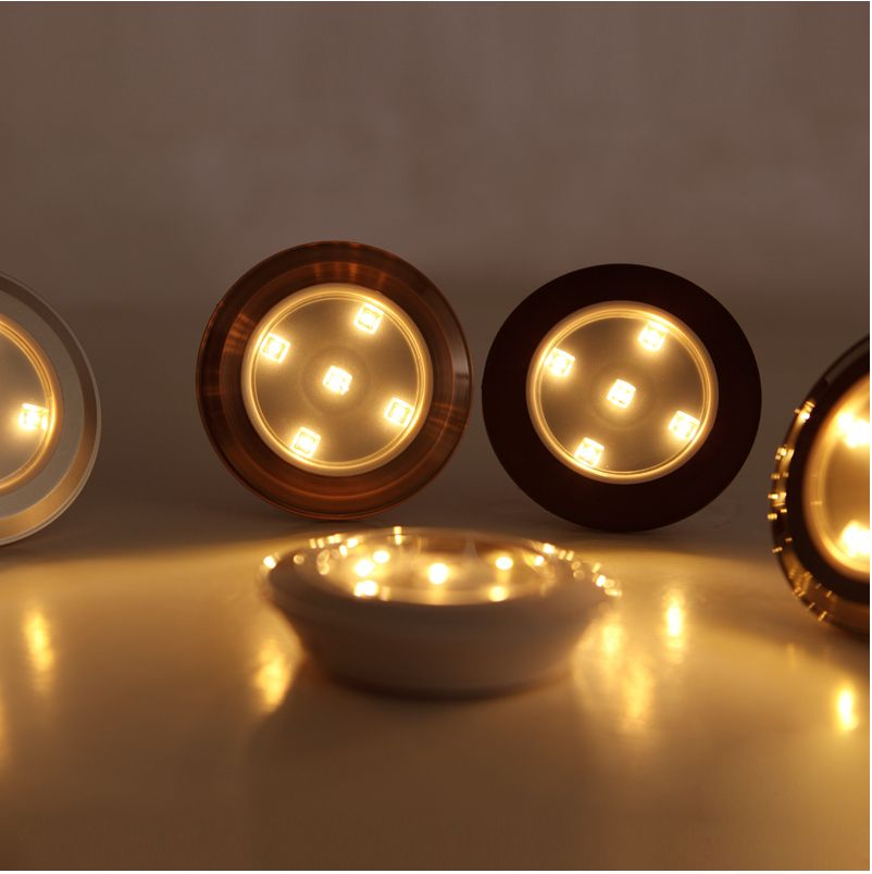 Wireless LED Puck Lights, Battery Powered 3528SMD, Warm White, attached  anywhere: Recommended
