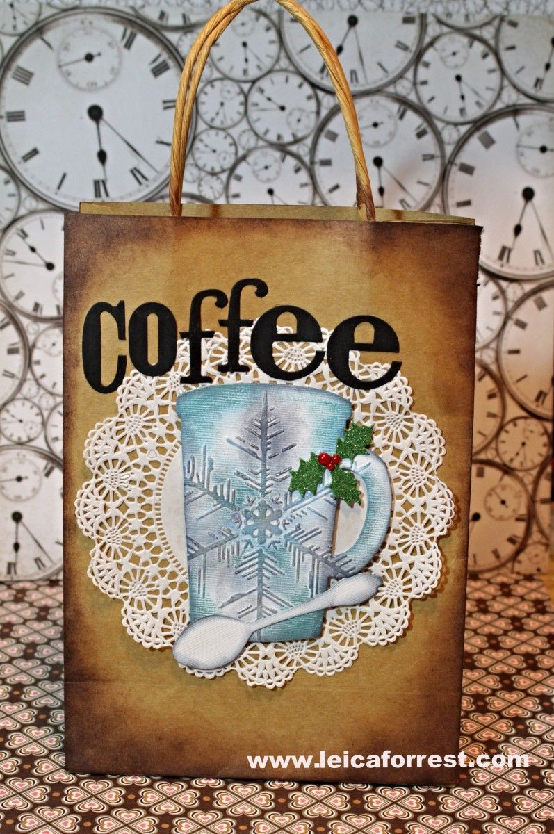 Sizzix Tutorial | Coffee Gift Bag Decoration by Leica Forrest