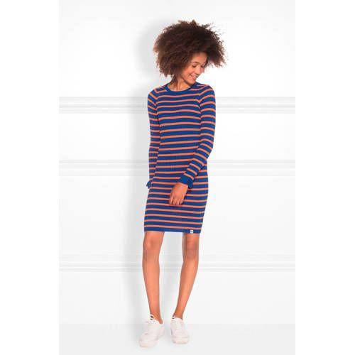 NIK&NIK gestreepte jurk blauworanje Gestreepte jurk