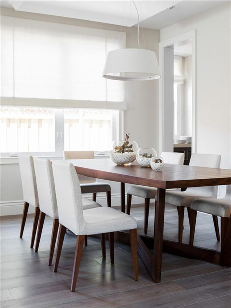 Dining Room Cherry Dining Table White Dining Chair Pendant Glass