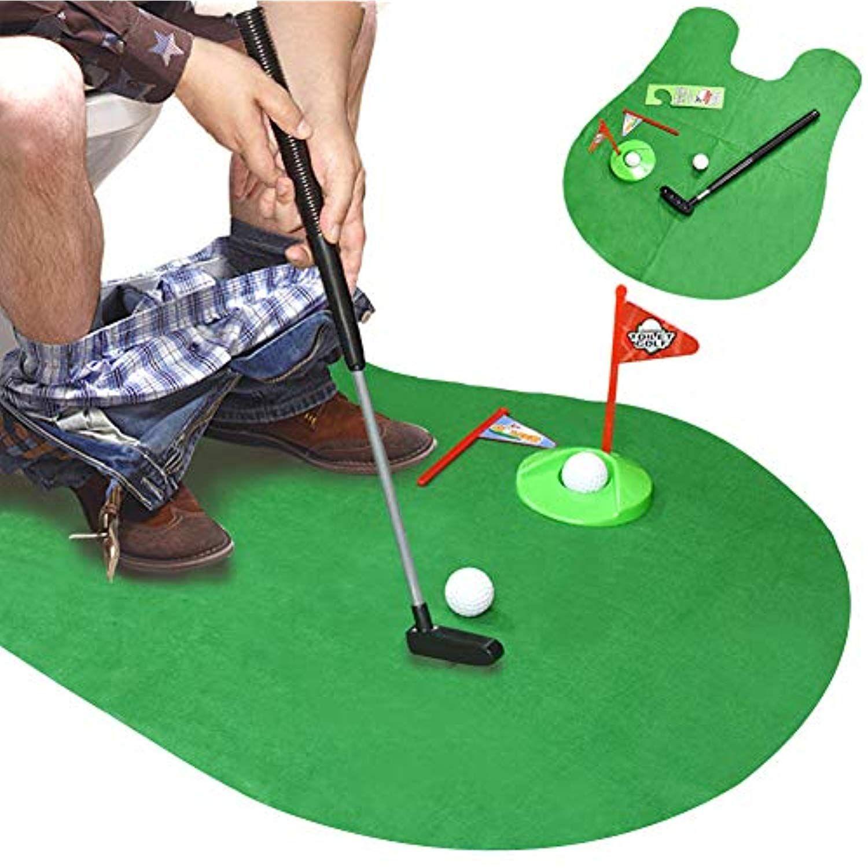 DLseego Toilet Golf, Potty Putter in Bathroom Golf Sport ...