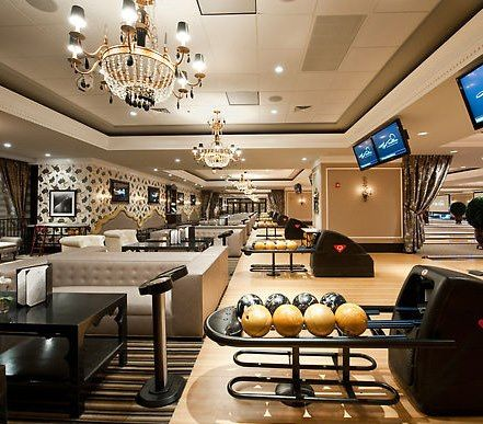 10 For Two Games Two Shoe Rentals At High Roller Luxury Lanes Up To 26 Value Home Bowling Alley Home Design Your Own Home