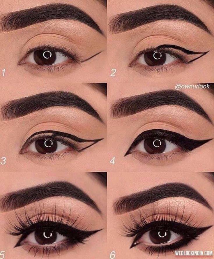 Simple Eye Makeup Tutorial Step By Step Instructions.  Health #eyemakeupnatural