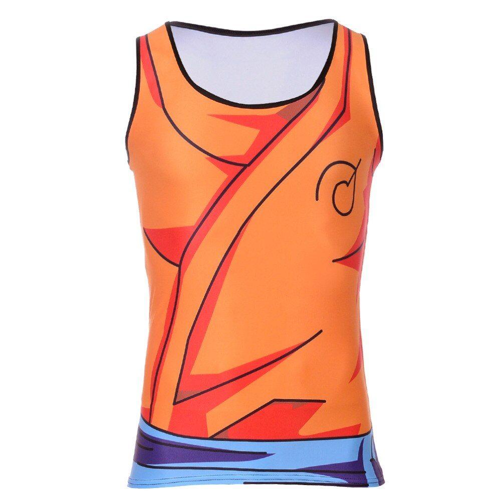 Bodybuilding Fitness Men T Shirt Goku Dragon Ball Vest Tank Top Free Shipping Worldwide Gi Outfit Tank Tops Goku Outfit