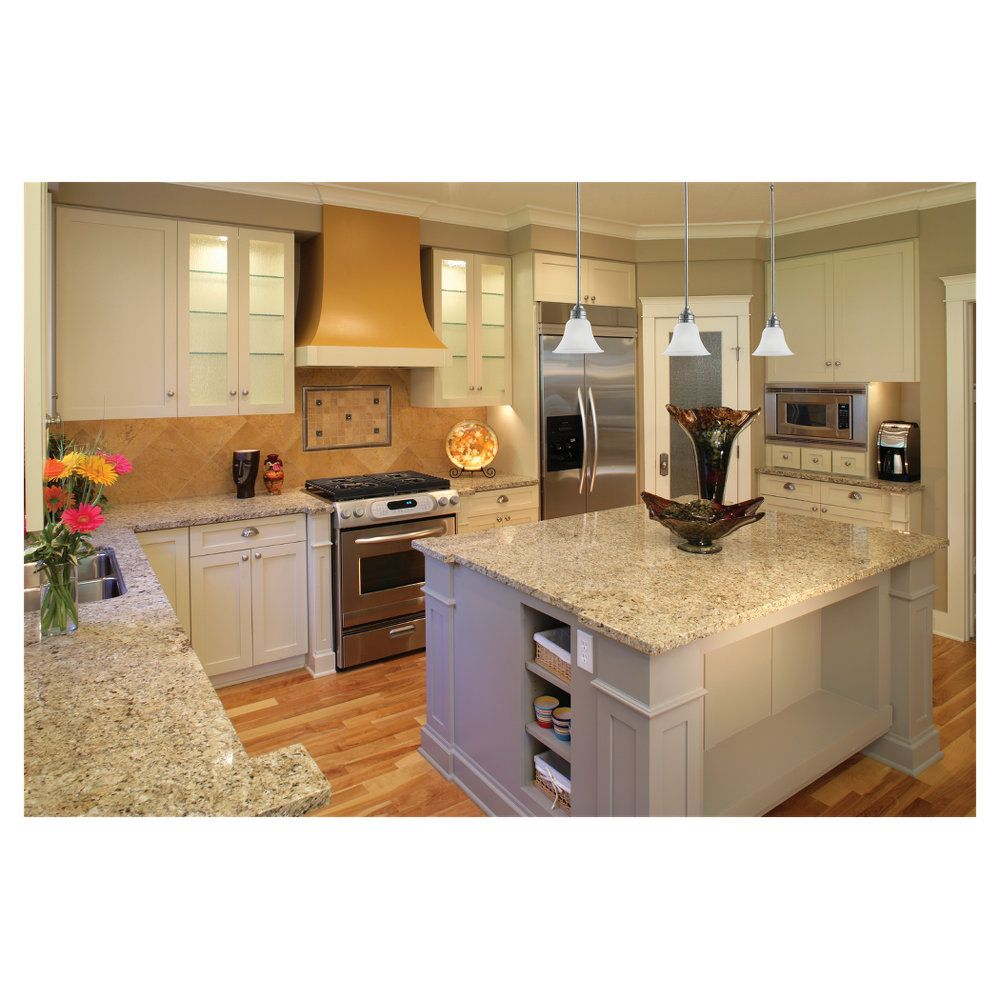 Light Colored Kitchen White Cabinets Light Gray Granite Counter Tops Stainless Steel Appliances Blonde Hard Woo White Kitchen Kitchen Flooring Countertops