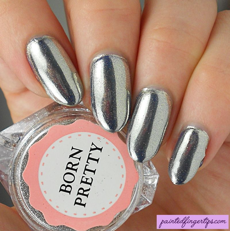 Painted Fingertips | Born Pretty Store Silver Chrome Powder