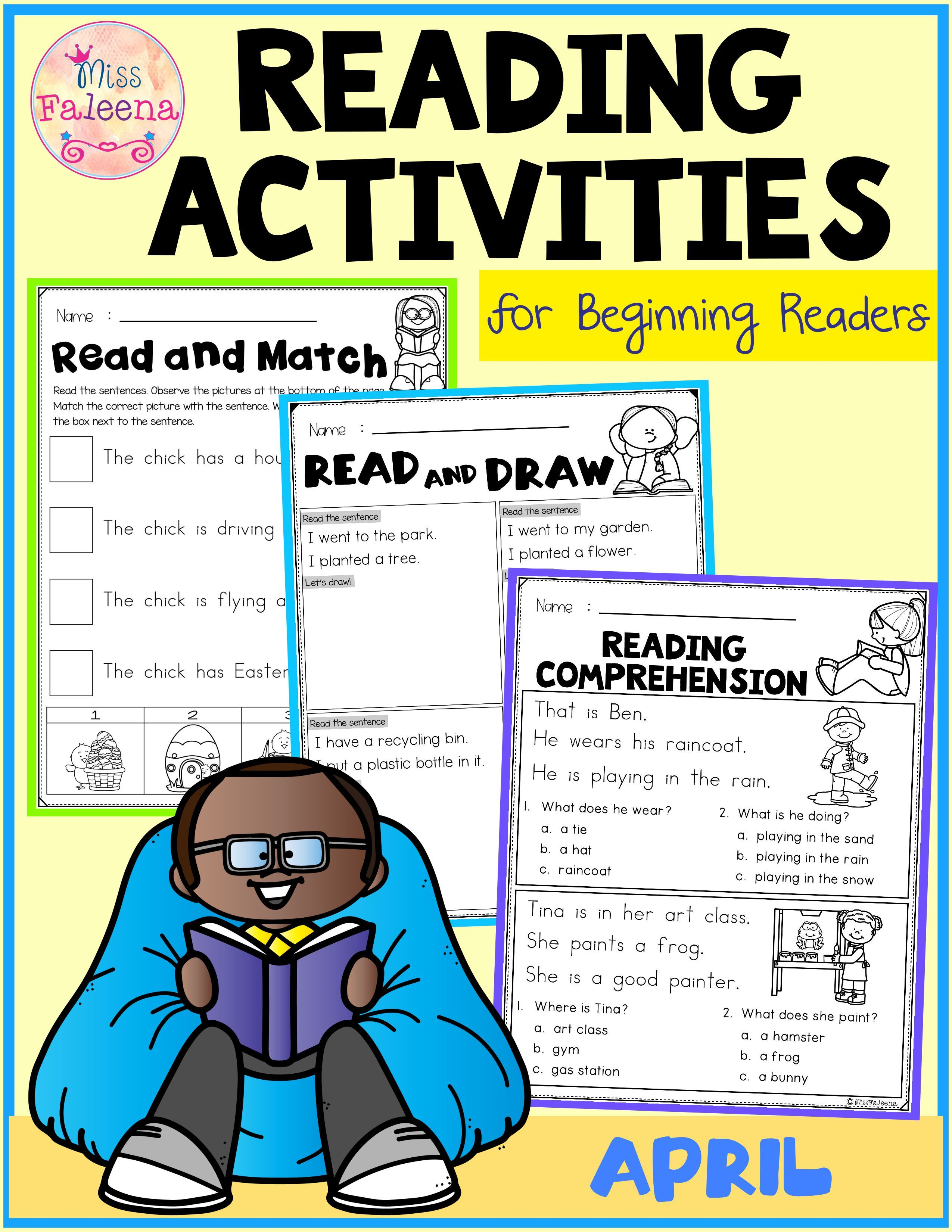 April Reading Activities For Beginning Readers
