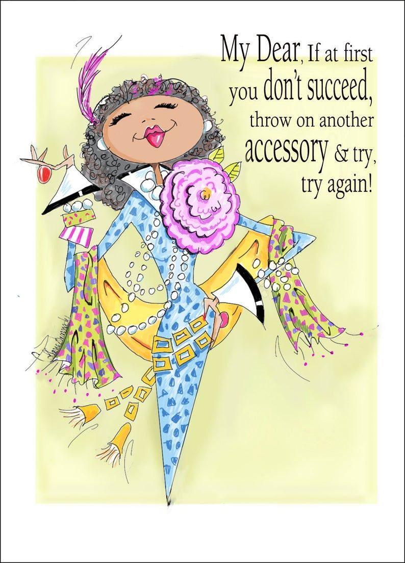 Funny African American Woman Birthday Card For Friend African