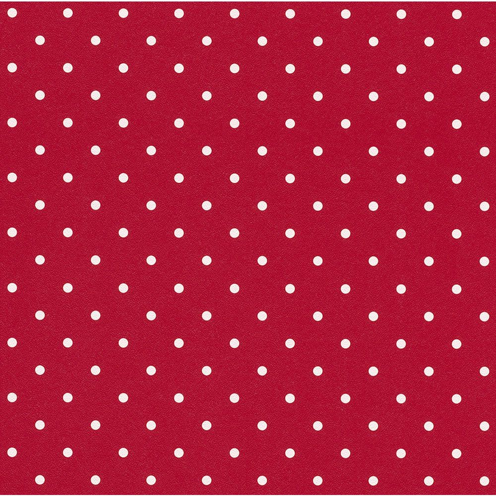 Red And White Polka Dot Wallpaper