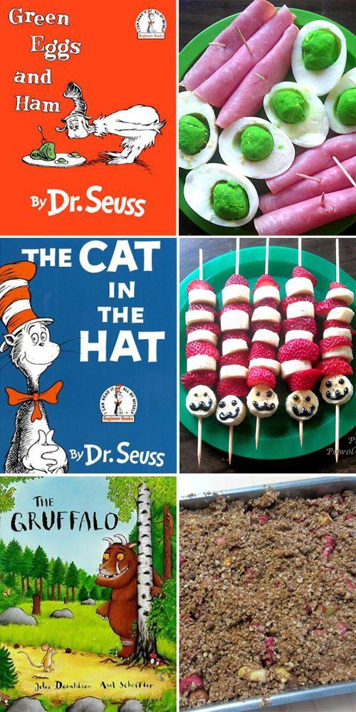 18 Picture Book Inspired Snacks for Kids | Book week | Kindergarten