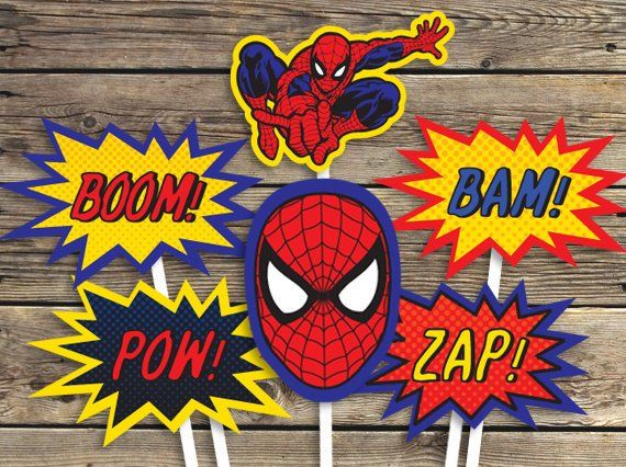 Spiderman Printables Sign Centerpiece Photo Prop Super Etsy Spiderman Birthday Party Decorations Spiderman Printables Spiderman Birthday Party