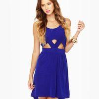 Cute Blue Dress - High-Low Dress - Cutout Dress - $44.50