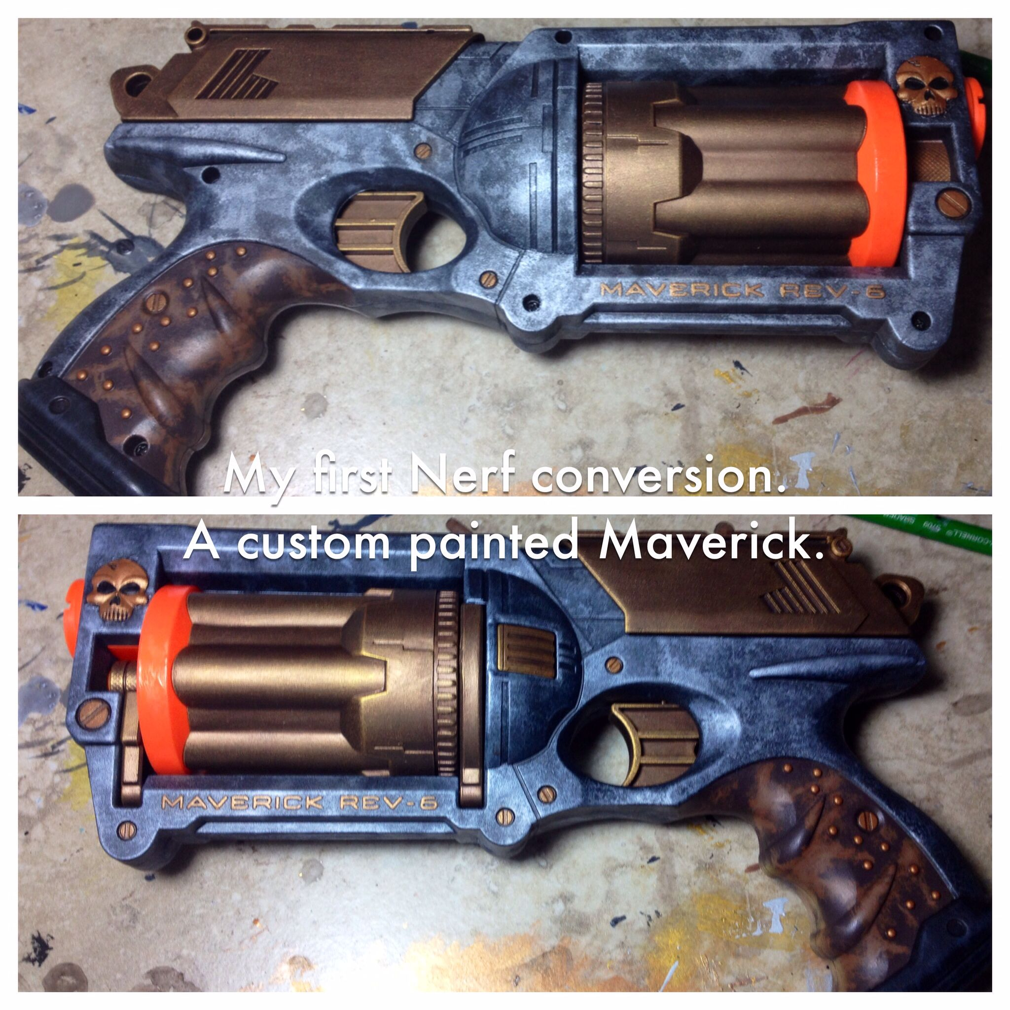 CosmeticsMy first ever attempt at painting a nerf gun. How did I do?