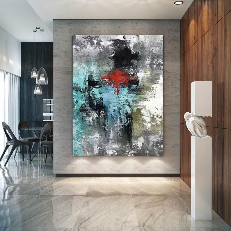 Large Original Abstract Painting Modern Art Living Room Decor