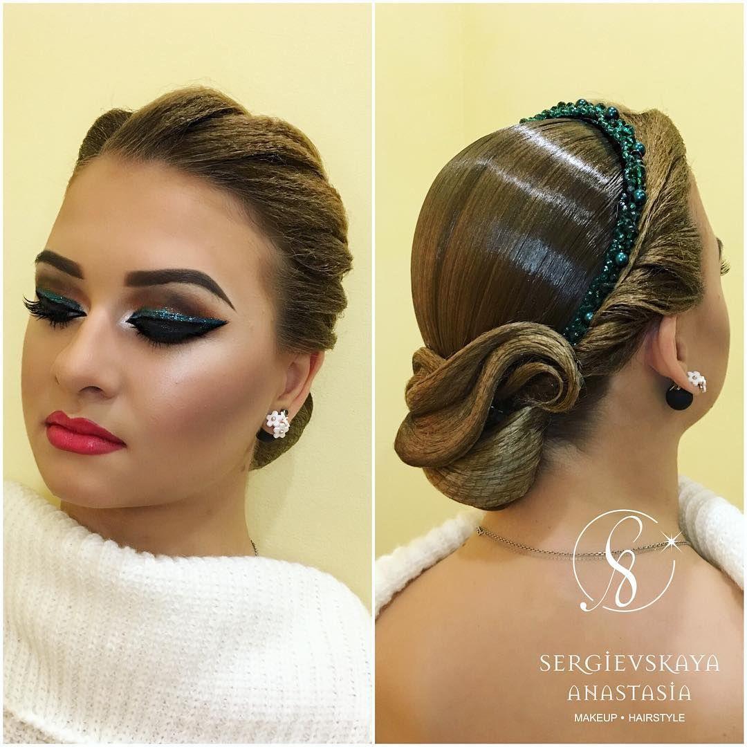 Latin Hair Also Passable For Ballroom Dance Competition Hair Dance Hairstyles Competition Hair