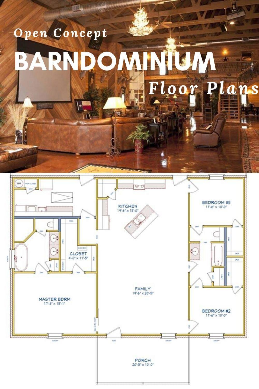 Open Concept Barndominium Floor Plans Barn Homes Floor Plans Barndominium Floor Plans Pole Barn House Plans