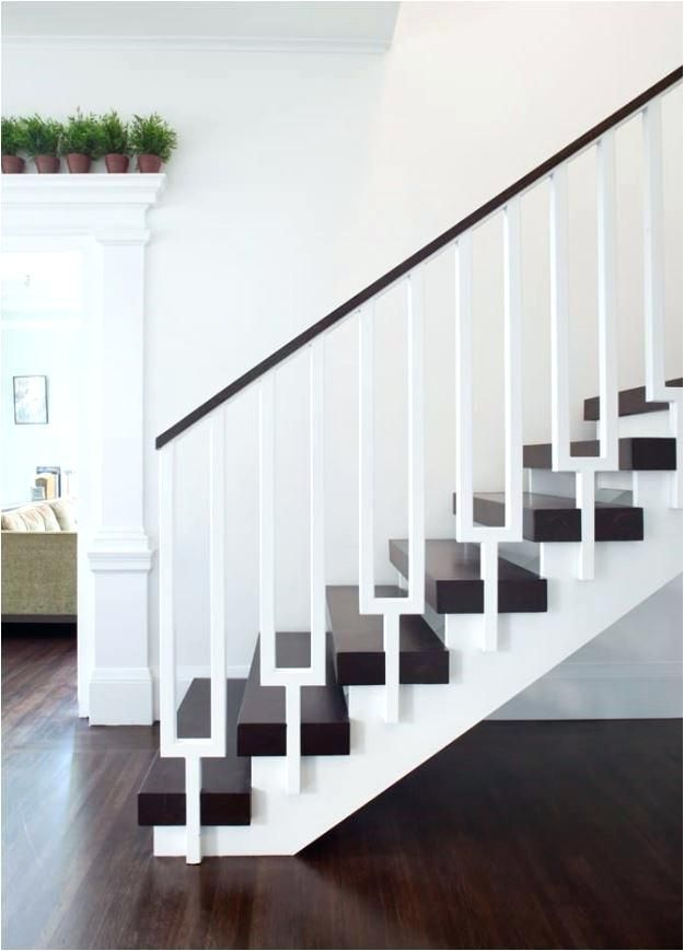 Best Modern Stair Handrail Wall Mount Wooden Staircase 640 x 480
