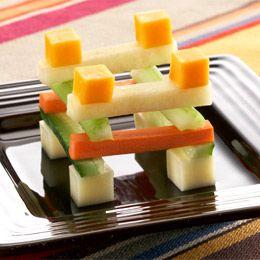 Building block snacks. Fun food for kids. 1 medium carrot, peeled ...