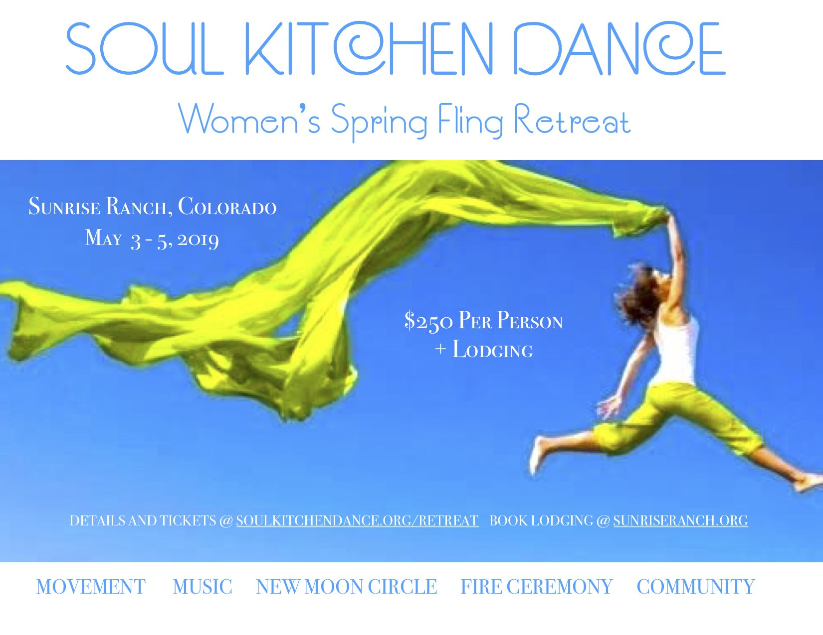 Womens spring fling retreat • may 3 5 2019 • sunrise ranch movement •